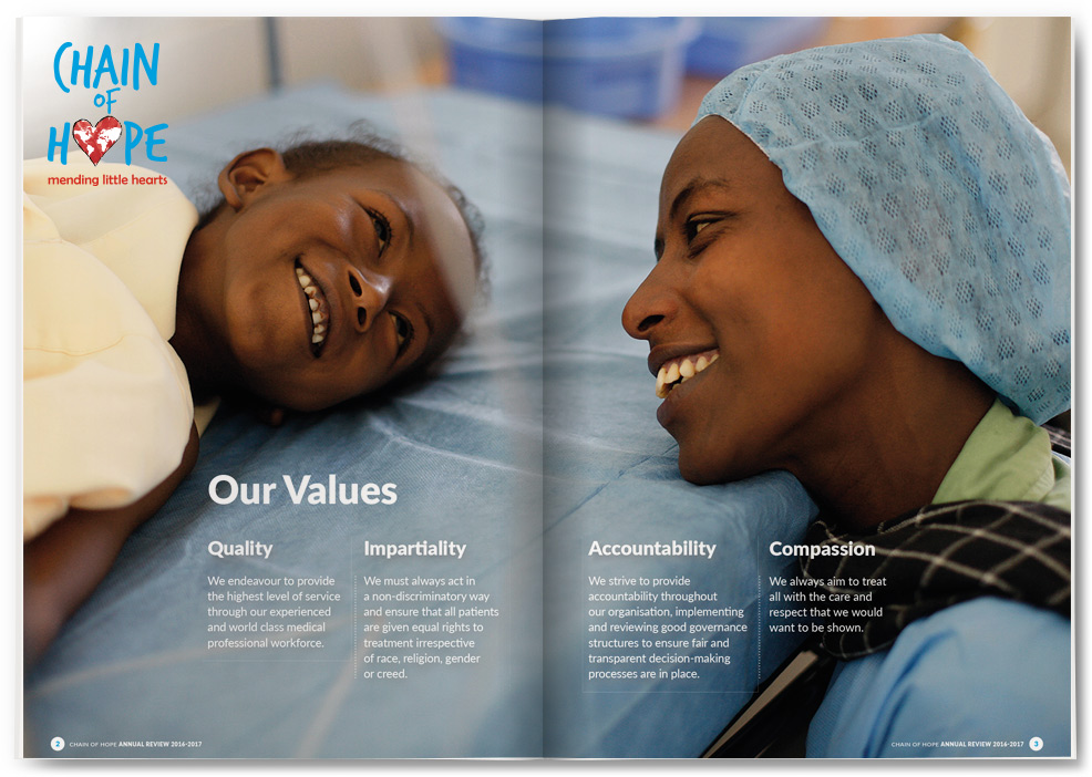 powerful image used by chain of hope annual review we designed