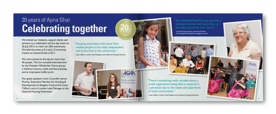 Celebrating Together, Apna Ghar Annual Report