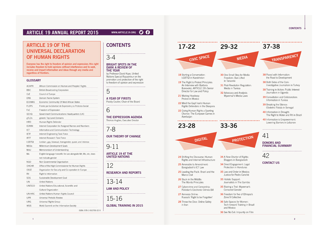 Article 19 Annual Report