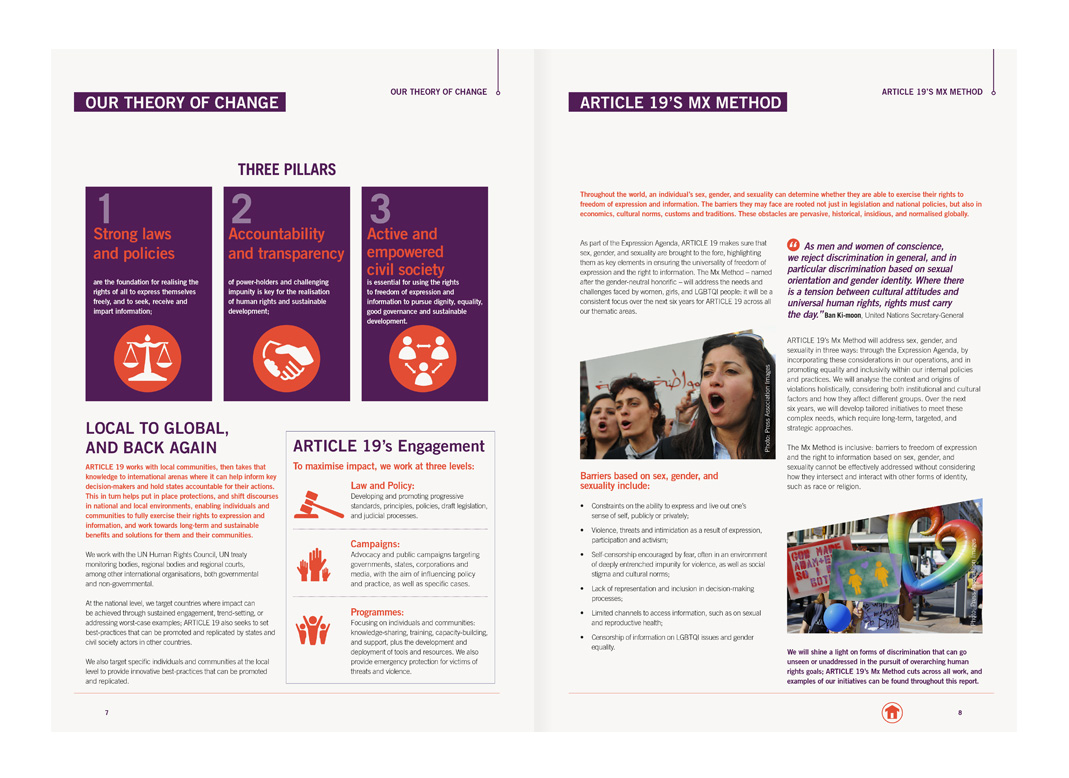 Theory of Change, Article 19 Annual Report