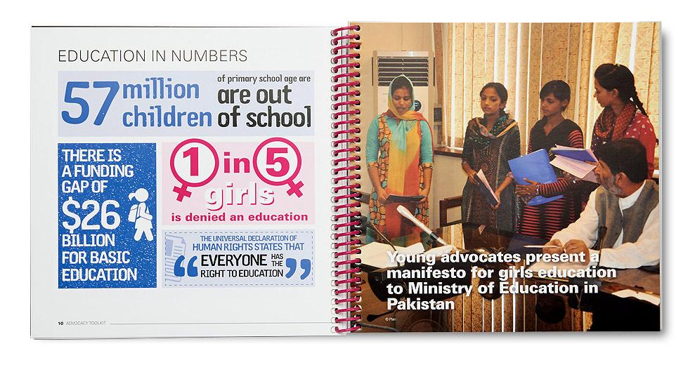 Plan International Because I am a Girl Brochure