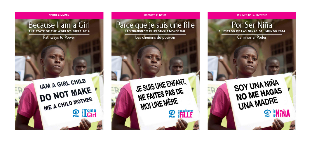 Plan International Because I am a Girl Posters