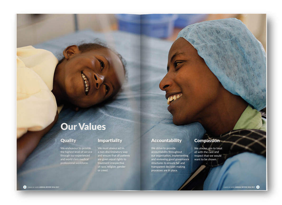 Chain of Hope: Our Values
