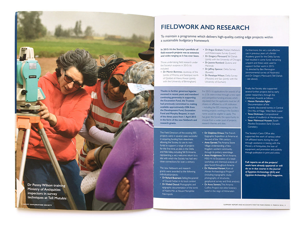 Egypt Exploration Society Annual Report Fieldwork and Research
