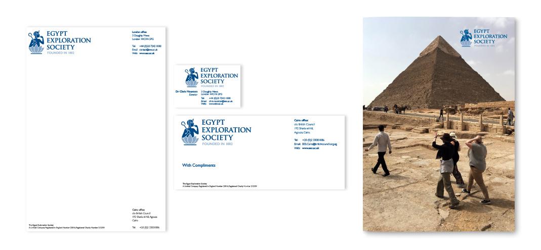 Egypt Exploration Society Brand Application