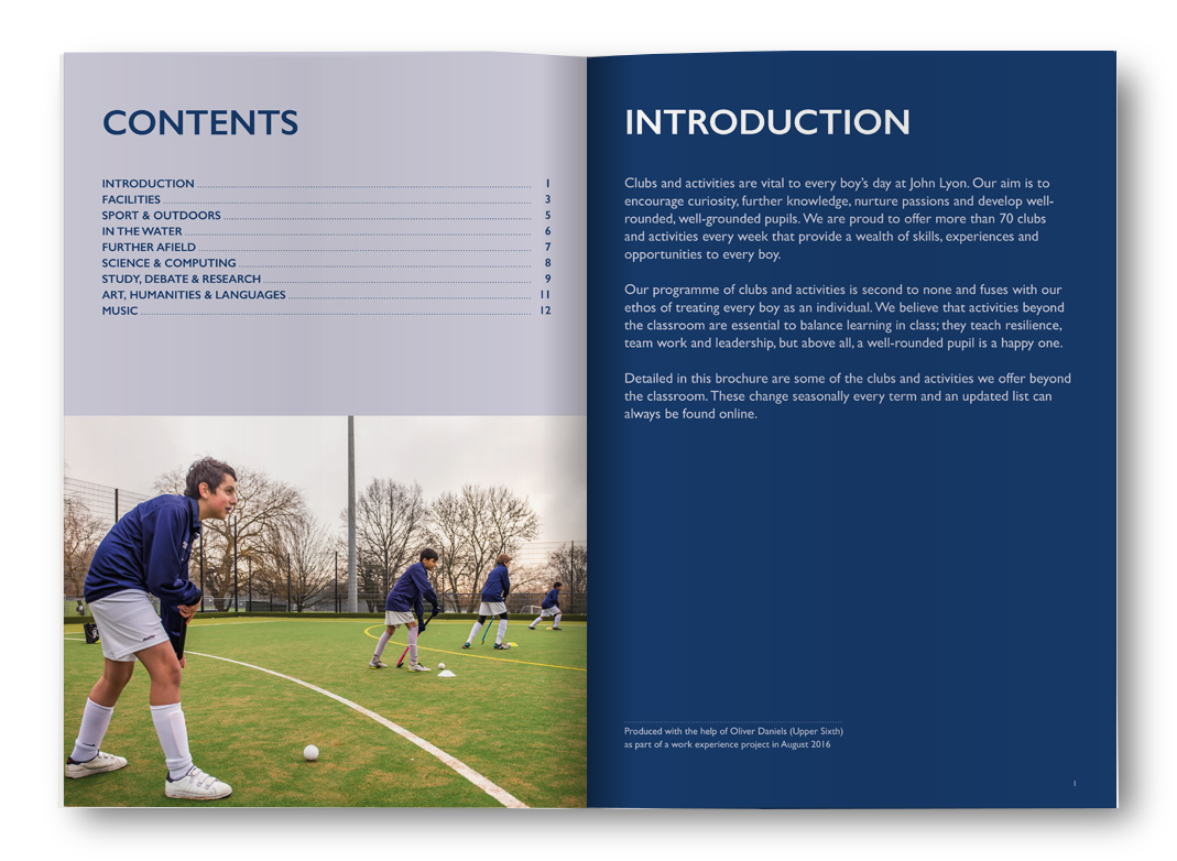 John Lyon School Brochure Introduction