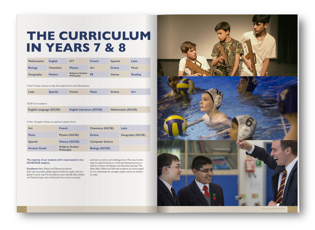 John Lyon School: The Curriculum