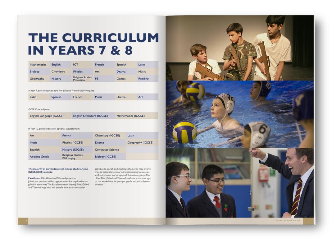 John Lyon School: The Curriculum