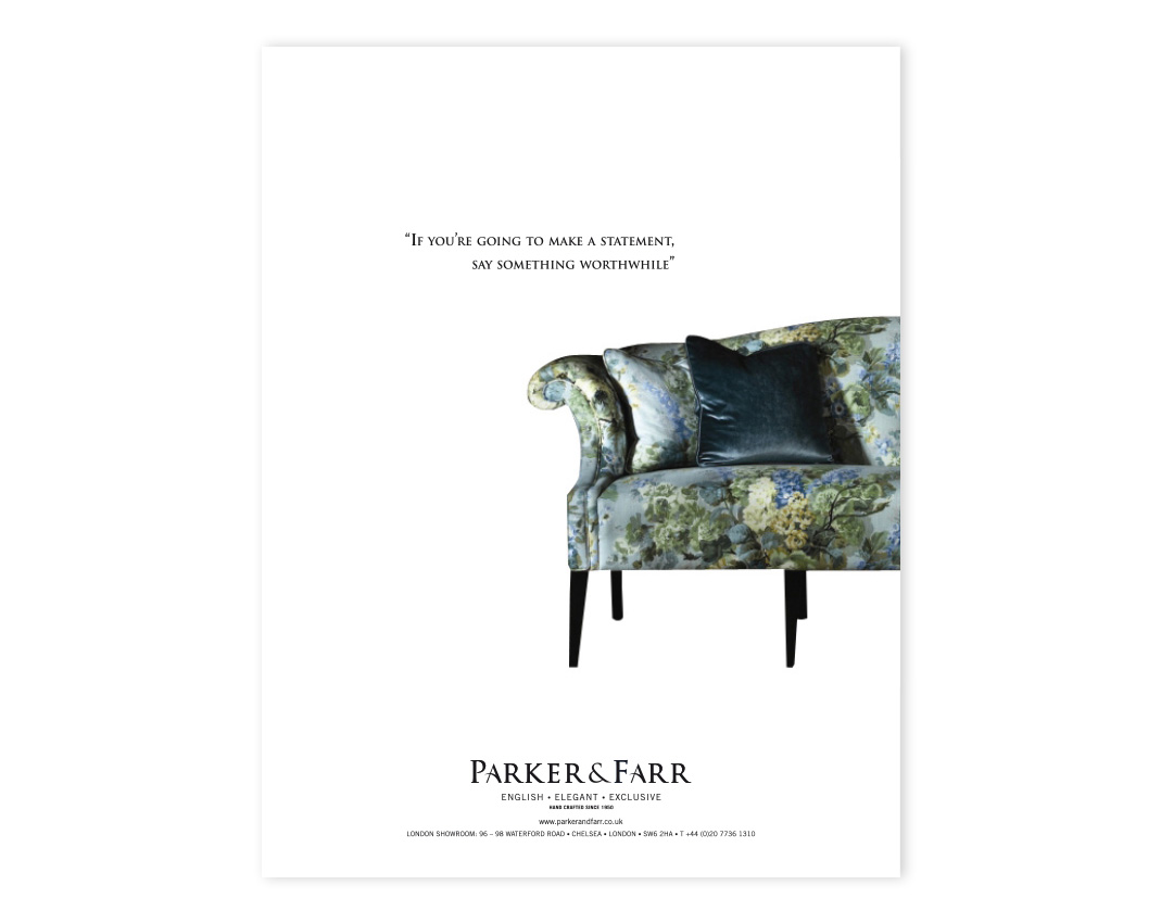 Parker and Farr Press Advert