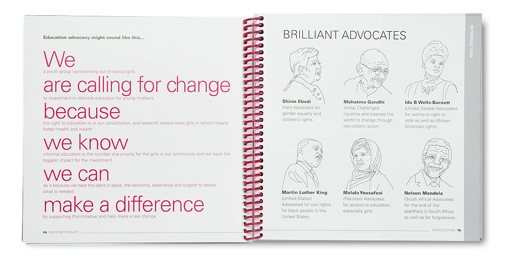Plan International Advocacy Toolkit, Brilliant Advocates