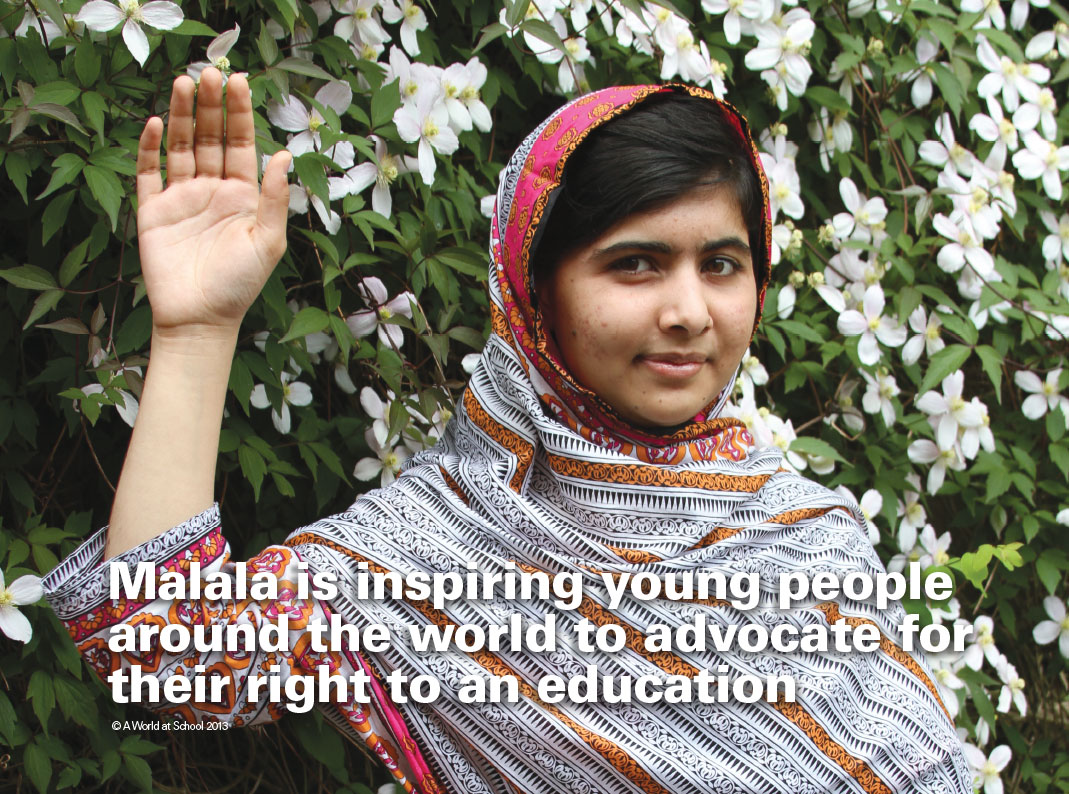 Malala Inspires Young People Around the World