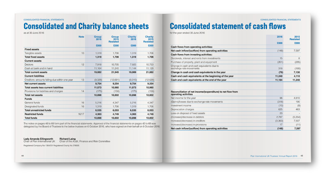 Plan International UK Balance Sheet
