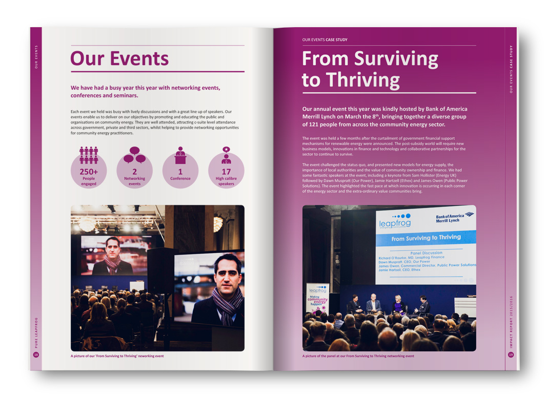 Our Events, From Surviving to Thriving
