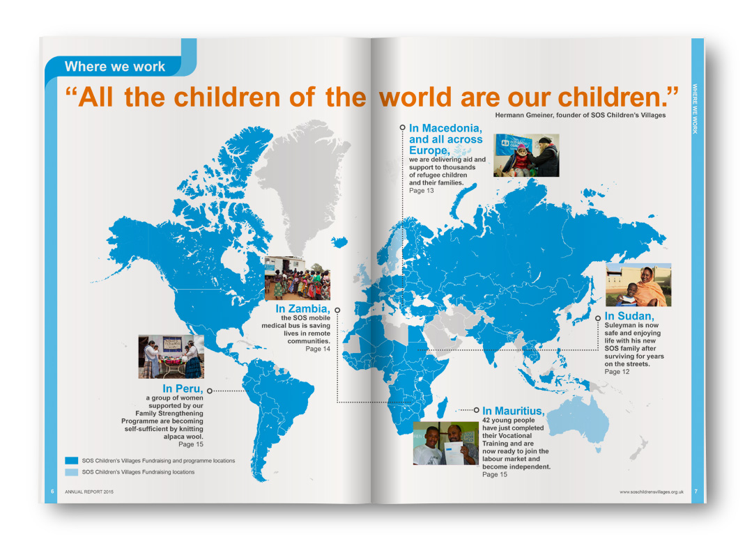 SOS Children's Villages Annual Report, Where We Work