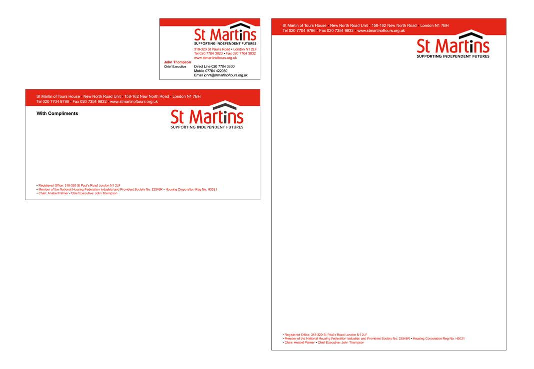 St Martin's Brand Implementation