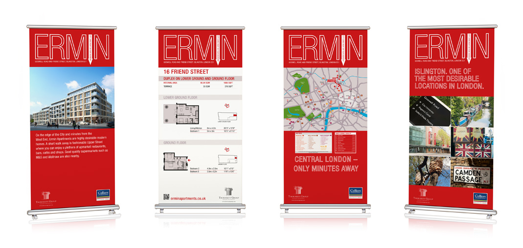 Pop Up Banners for Thornsett Ermin Apartment