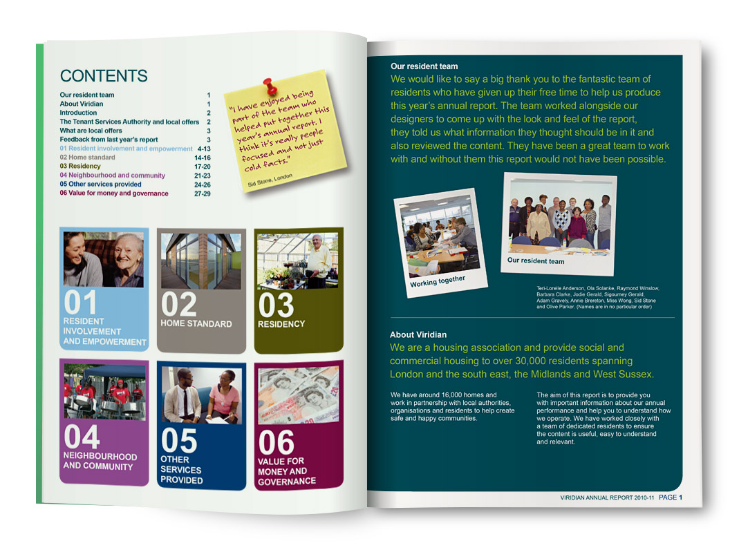 Viridian Housing Association Annual Report Design