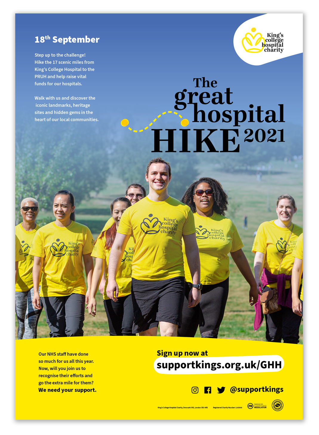 The Great Hospital Hike 2021 Poster