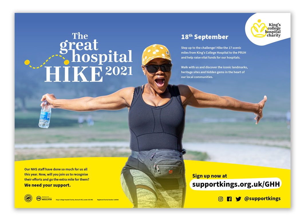 The Great Hospital Hike 2021 Poster B