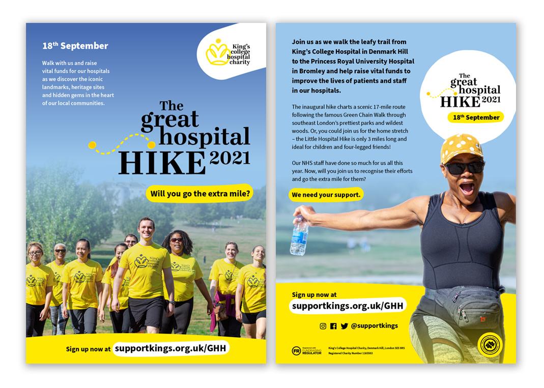 The Great Hospital Hike 2021 Leaflet
