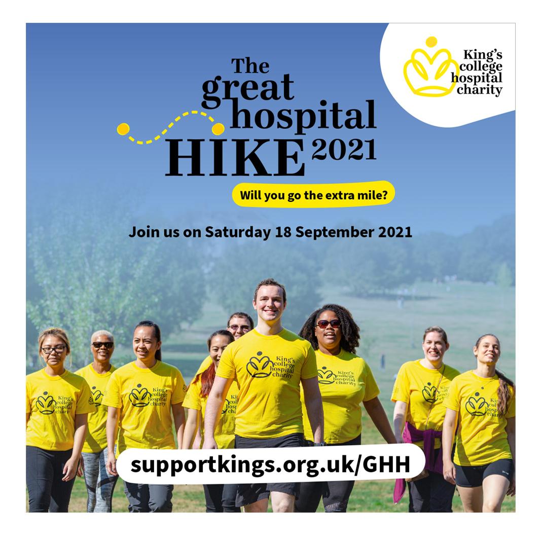 The Great Hospital Hike 2021 Social Media Image