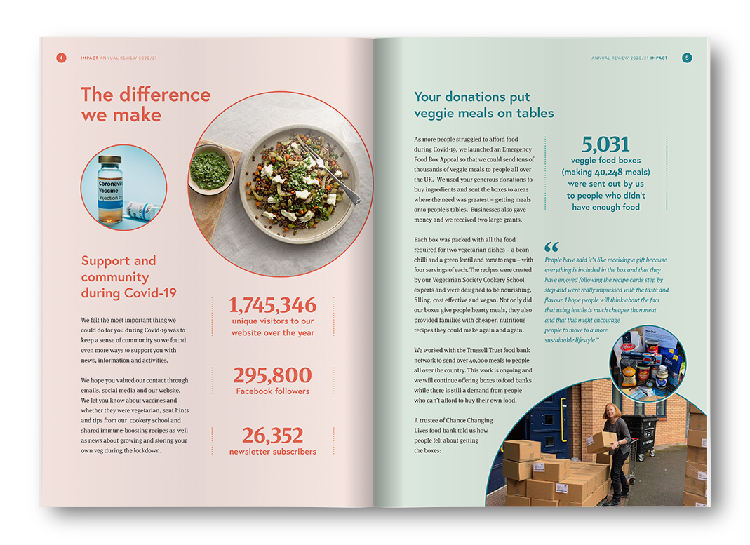 The Vegetarian Society Annual Review and Microsite